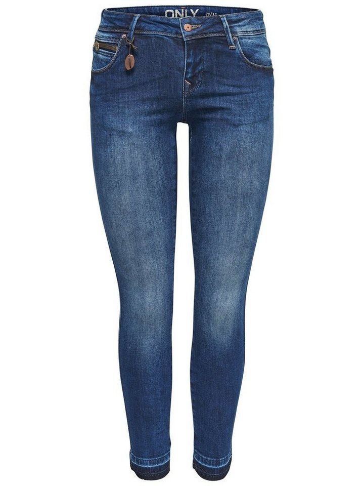 Only Coral superlow ankle Skinny Fit Jeans in Medium Blue Denim