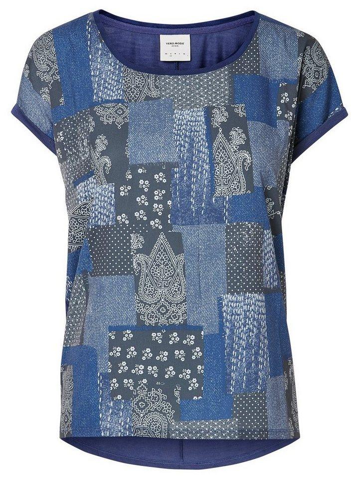 Vero Moda Bedrucktes T-Shirt in Twilight Blue
