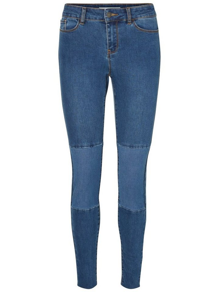 Vero Moda Seven NW Ankle Skinny Fit Jeans in Dark Blue Denim
