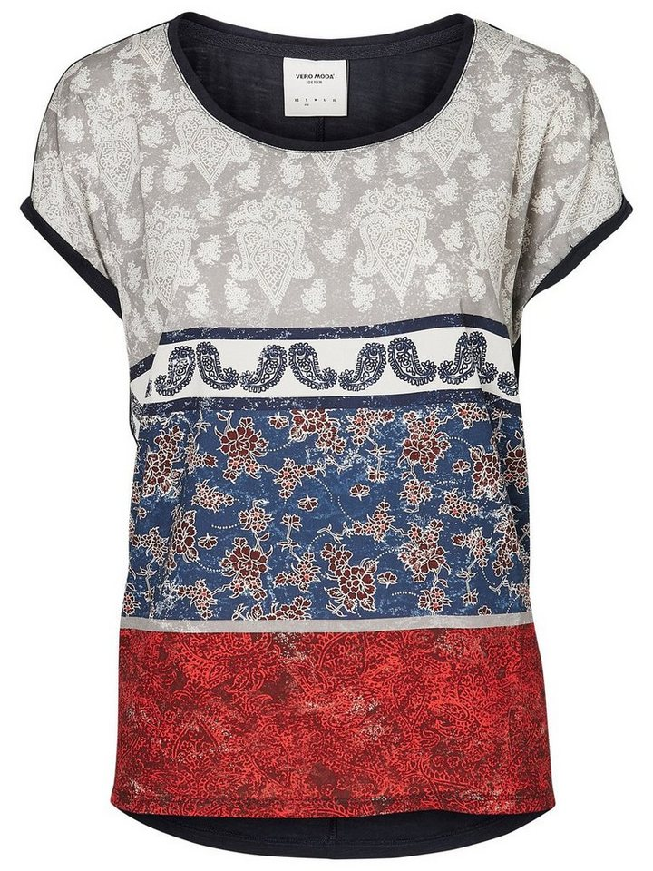 Vero Moda Bedrucktes T-Shirt in Navy Blazer