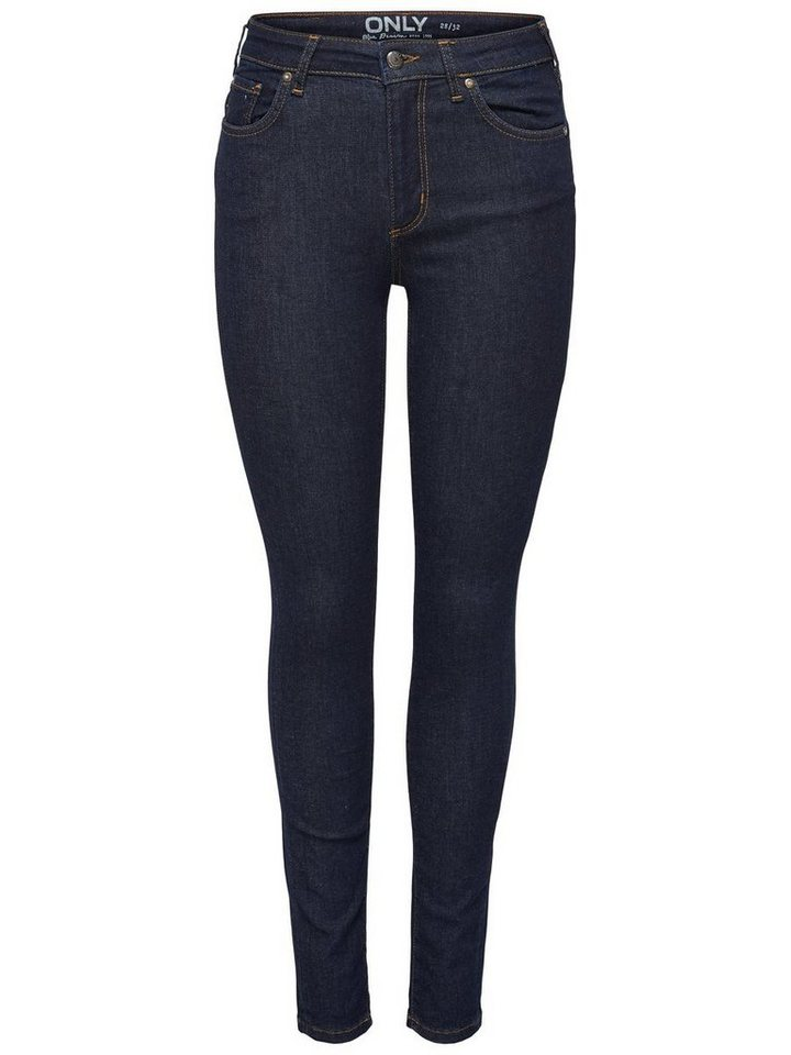 Only My reg Skinny Fit Jeans in Dark Blue Denim