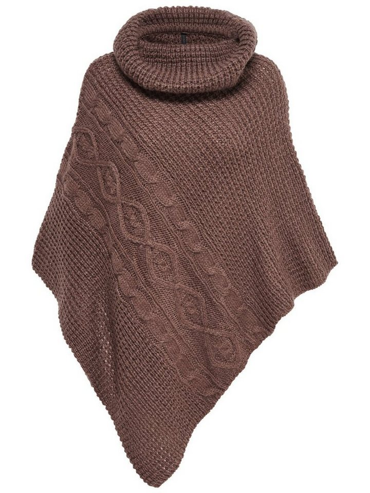 Only Gestrickter Poncho in Deep Taupe