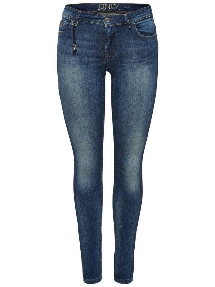 Only Shape reg Skinny Fit Jeans in Medium Blue Denim