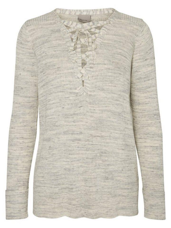 Vero Moda Langärmelige Bluse in Light Grey Melange