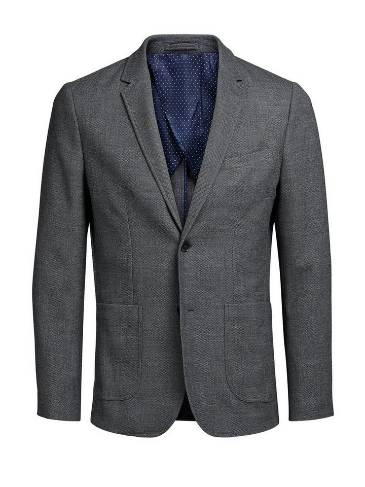 Jack & Jones Patchtaschen- Blazer in Dark Grey