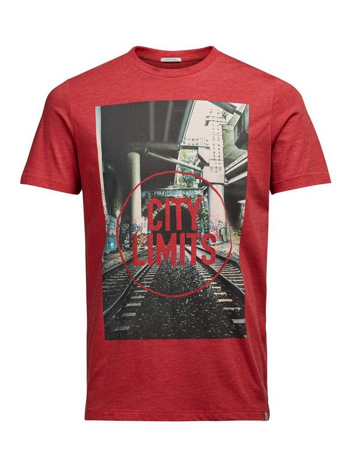 Jack & Jones Fotoprint- T-Shirt in Samba
