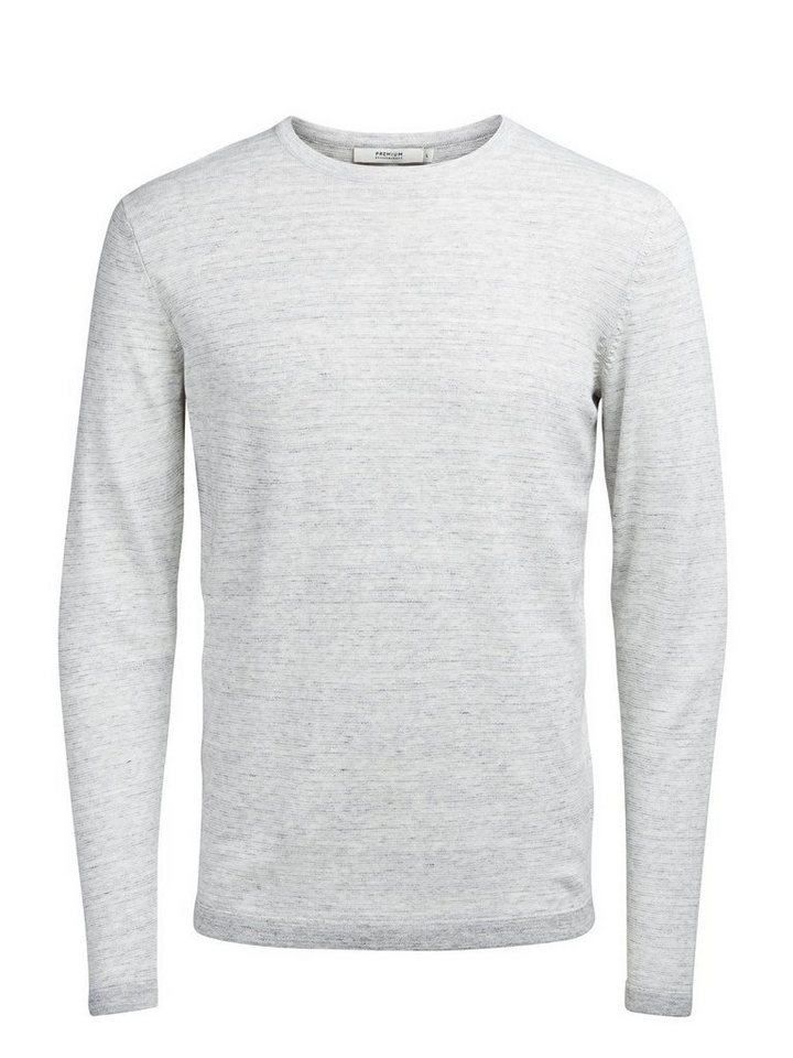 Jack & Jones Gefleckter Crew Neck- Pullover in Light Grey Melange
