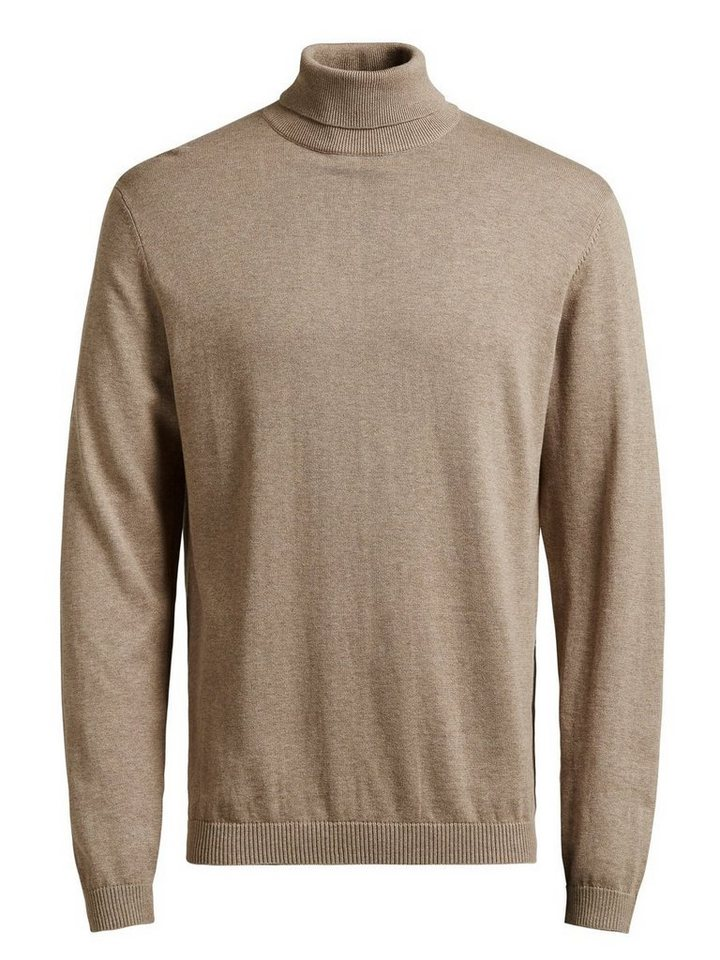 Jack & Jones Klassischer Seidenmischfaser- Pullover in Camel