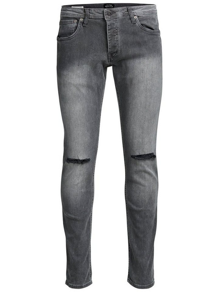 Jack & Jones Glenn Original AM 110 Slim Fit Jeans in Grey Denim