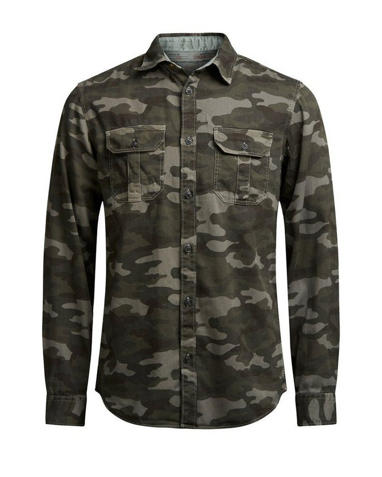 Jack & Jones Militärstil- Freizeithemd in Rosin 1