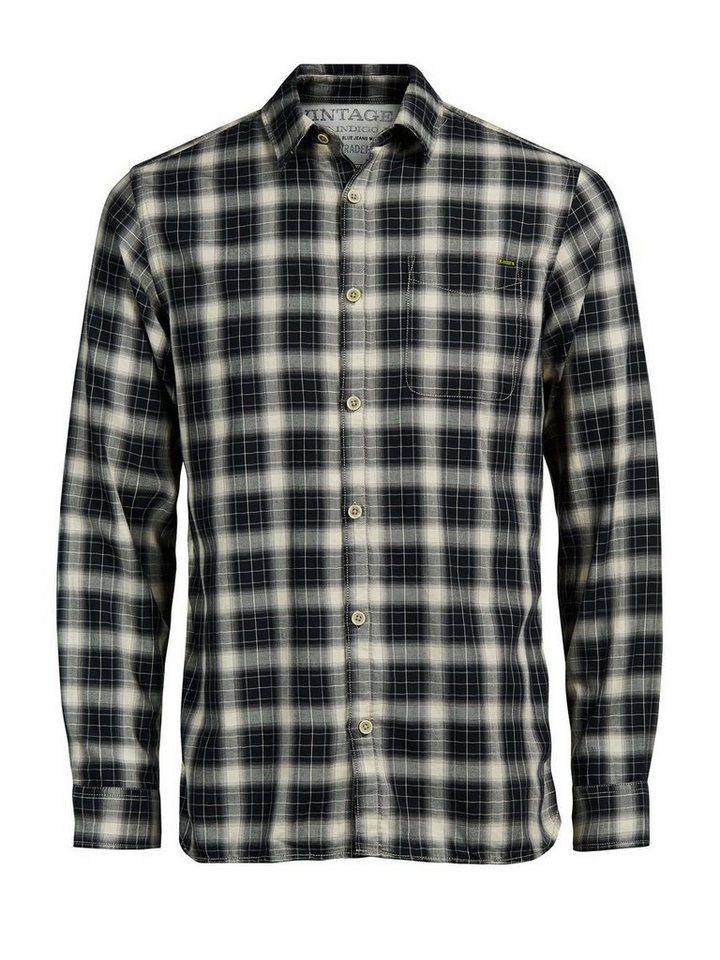 Jack & Jones Klassisches Karo- Freizeithemd in Black