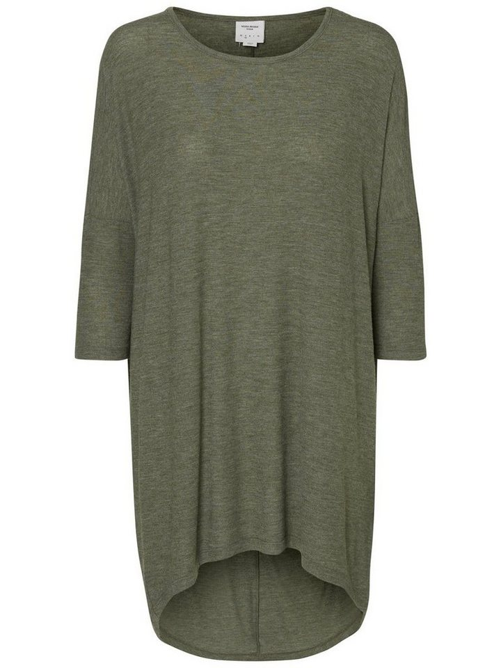 Vero Moda Loose-Fit- Oberteil mit 3/4-Ärmeln in Kombu Green