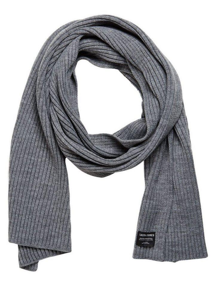 Jack & Jones Gerippter Schal in Grey Melange