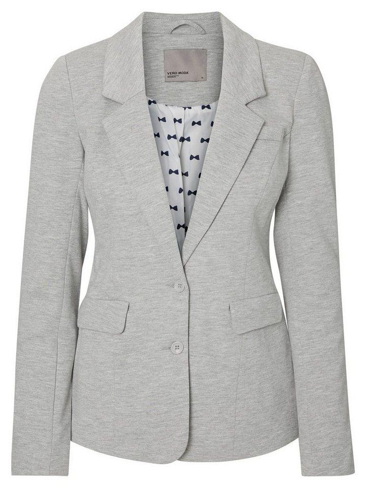 Vero Moda Langärmeliger Blazer in Light Grey Melange