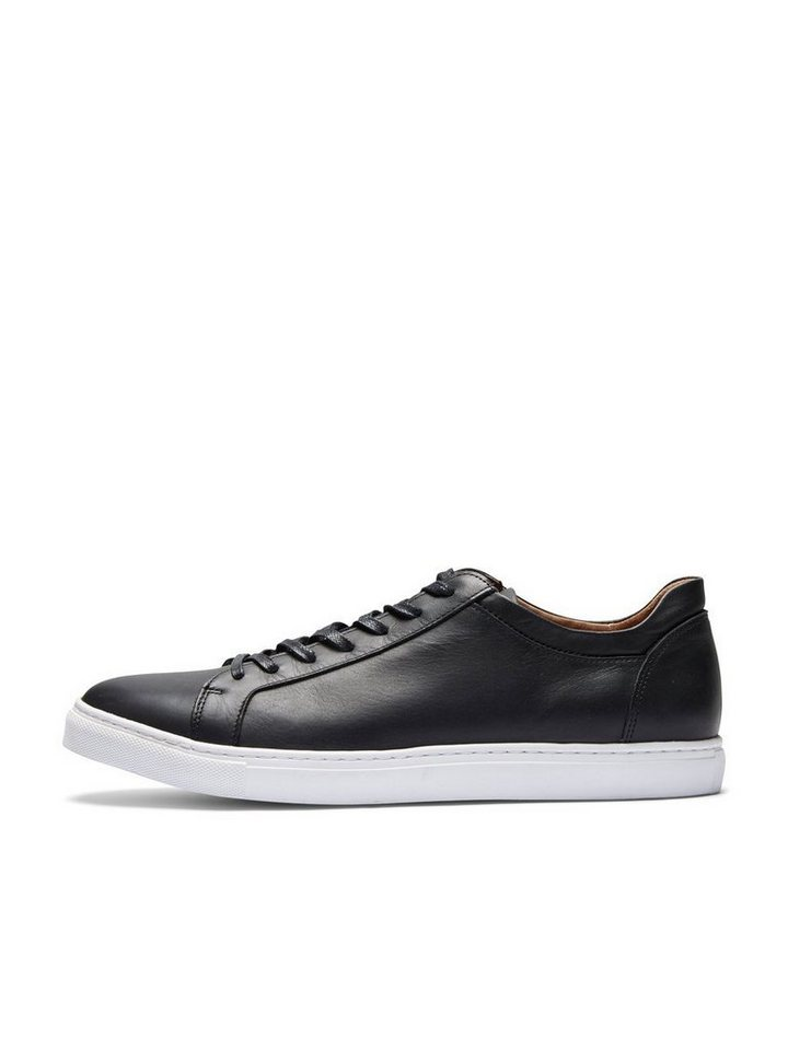 Selected Leder- Sneaker in Black