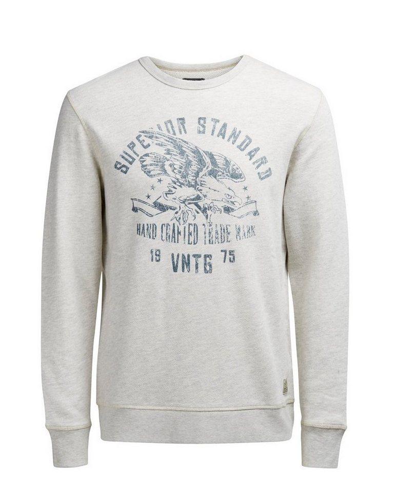 Jack & Jones Bedrucktes Sweatshirt in White Melange