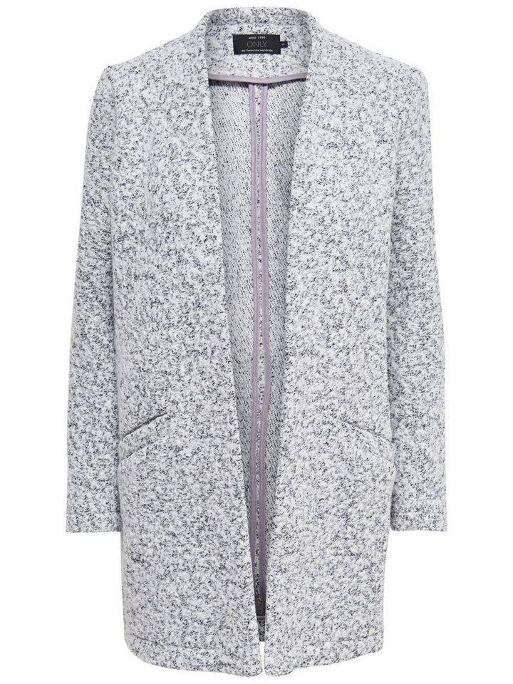 Only Woll- Coatigan in Light Grey Melange