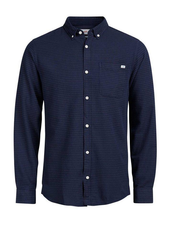 Jack & Jones Detailliertes Langarmhemd in Navy Blazer