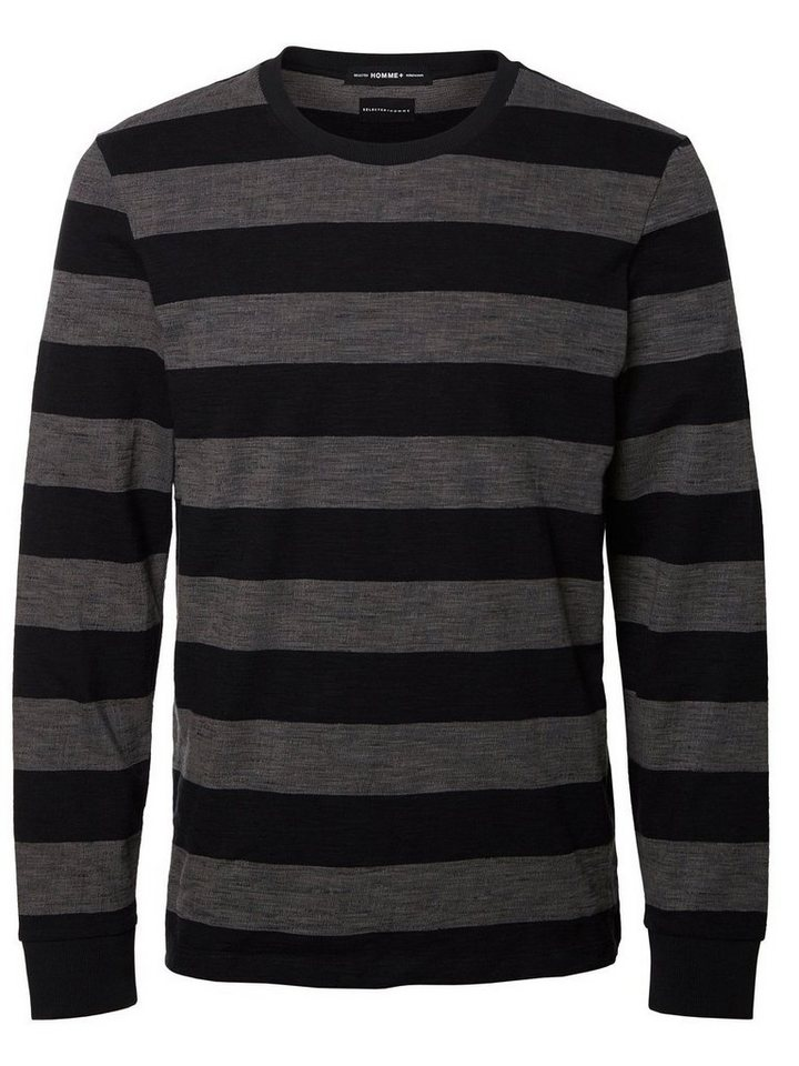 Selected Crew Neck- Sweatshirt in Black