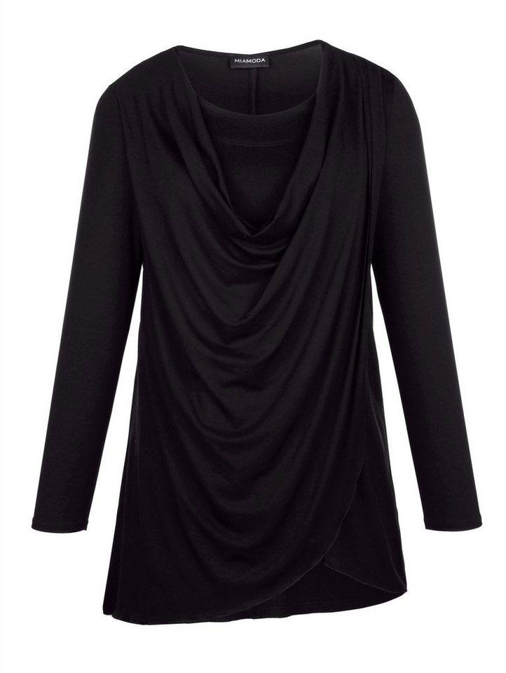 MIAMODA Longshirt in schwarz