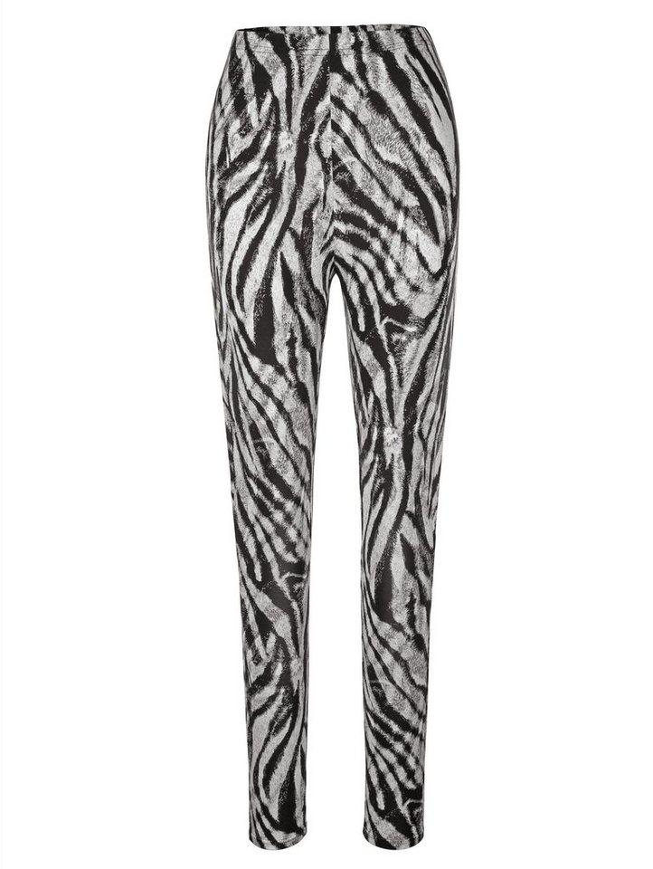 MIAMODA Leggings mit Animal Druck in schwarz/weiß