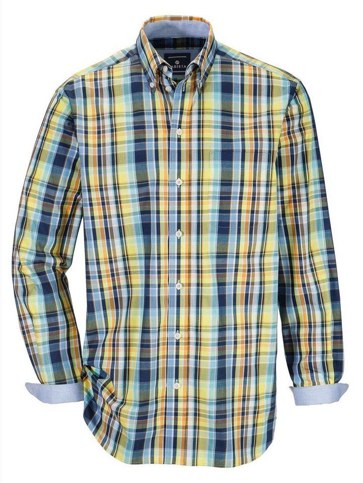 Babista Hemd in modischen Farben in gelb-marine