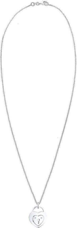 Diamore Kette mit Anhänger »Herz, DIAMORE, 0102362114« mit Brillianten in Silber 925-silberfarben
