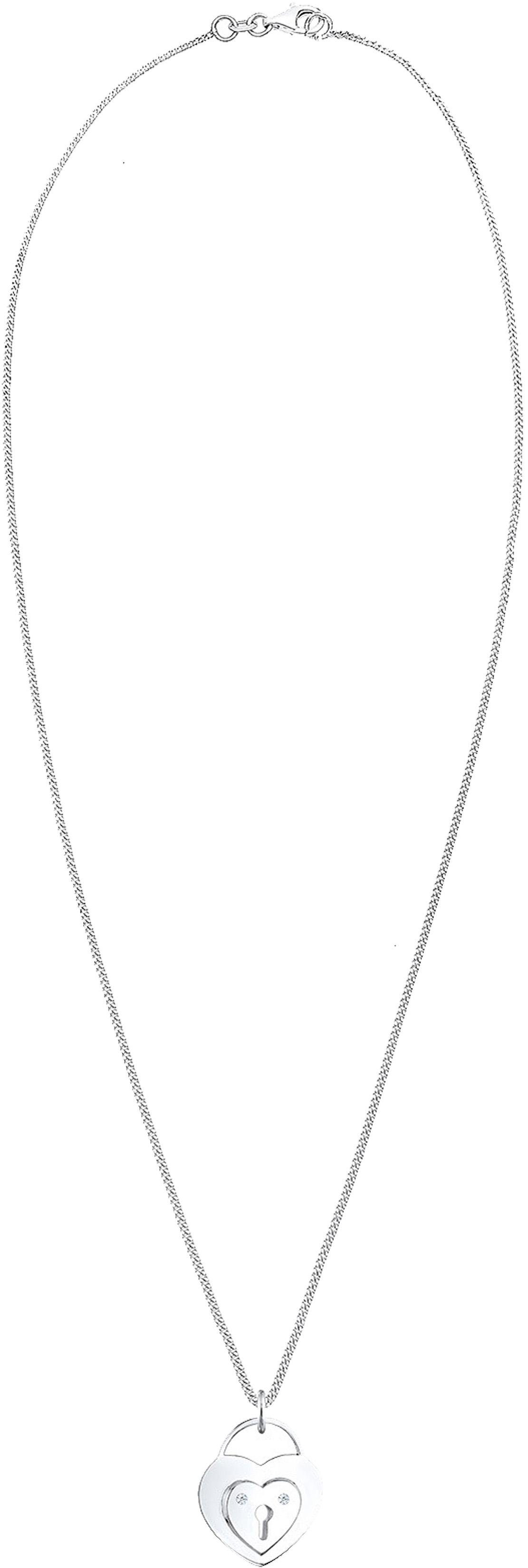 Diamore Kette mit Anhänger »Herz, DIAMORE, 0102362114« mit Brillianten