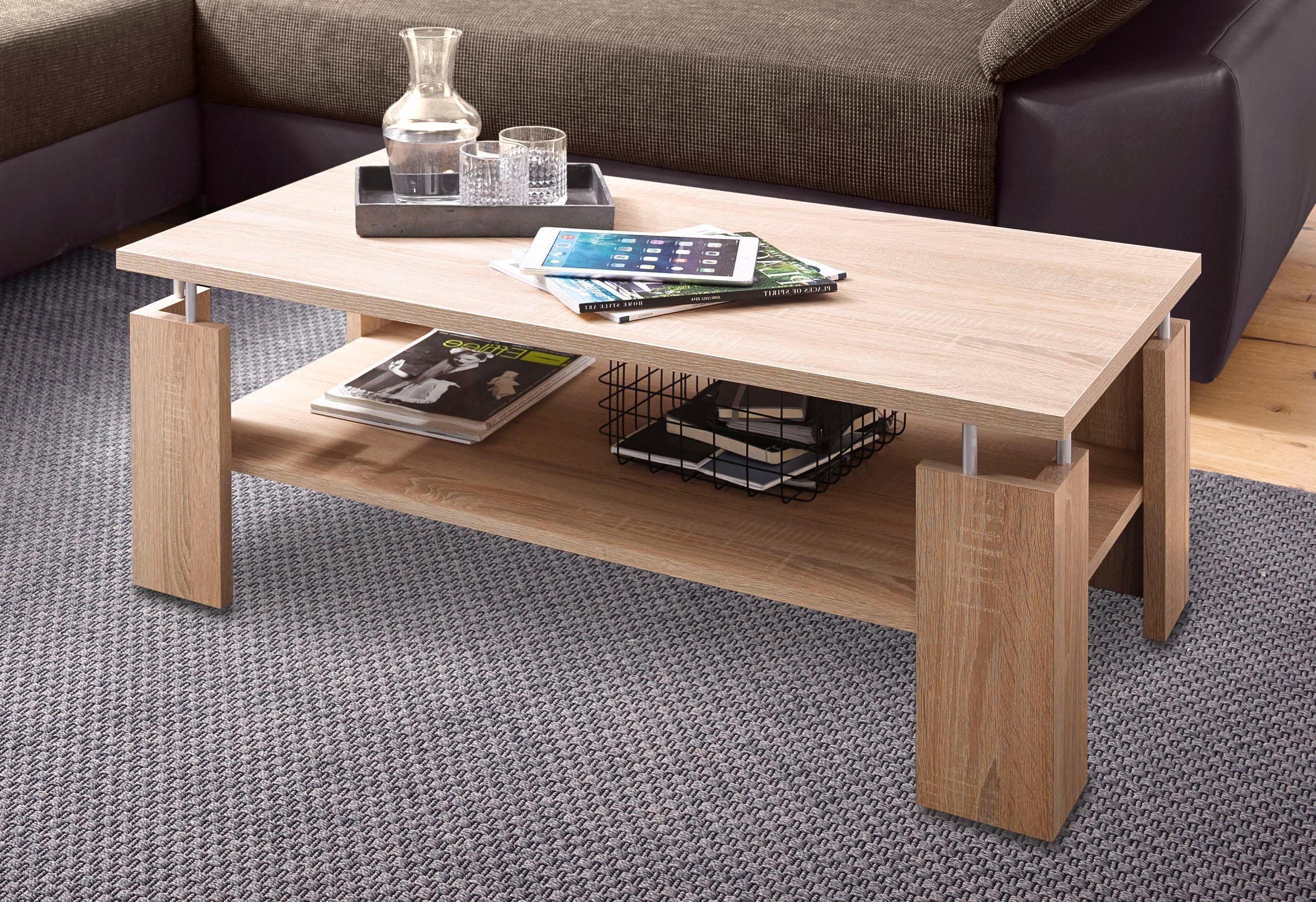 Couchtisch, mit praktischem Ablageboden | Wohnzimmer > Tische > Couchtische | Melamin