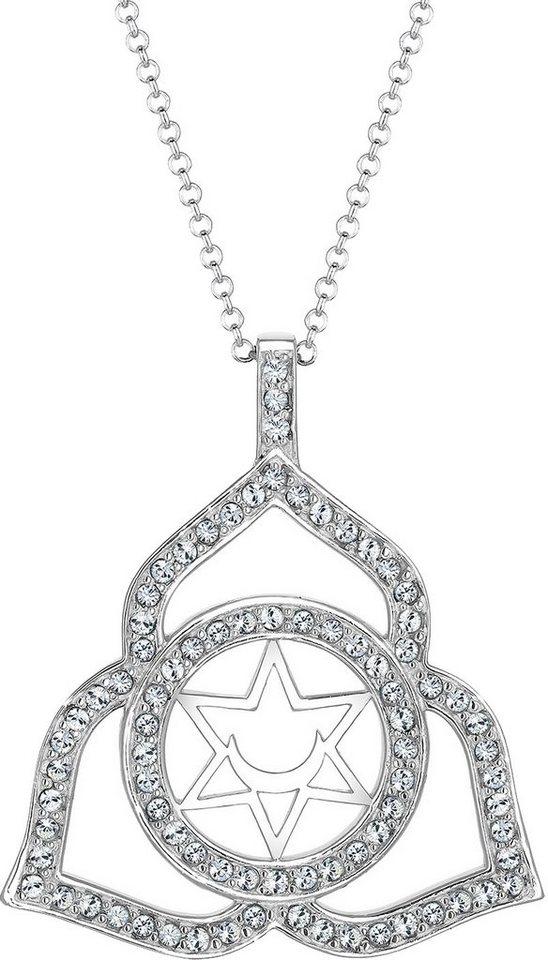 Elli Premium Kette mit Anhänger »Chakra, Elli PREMIUM, 0101522616« mit Swarovski® Kristallen in Silber 925-silberfarben