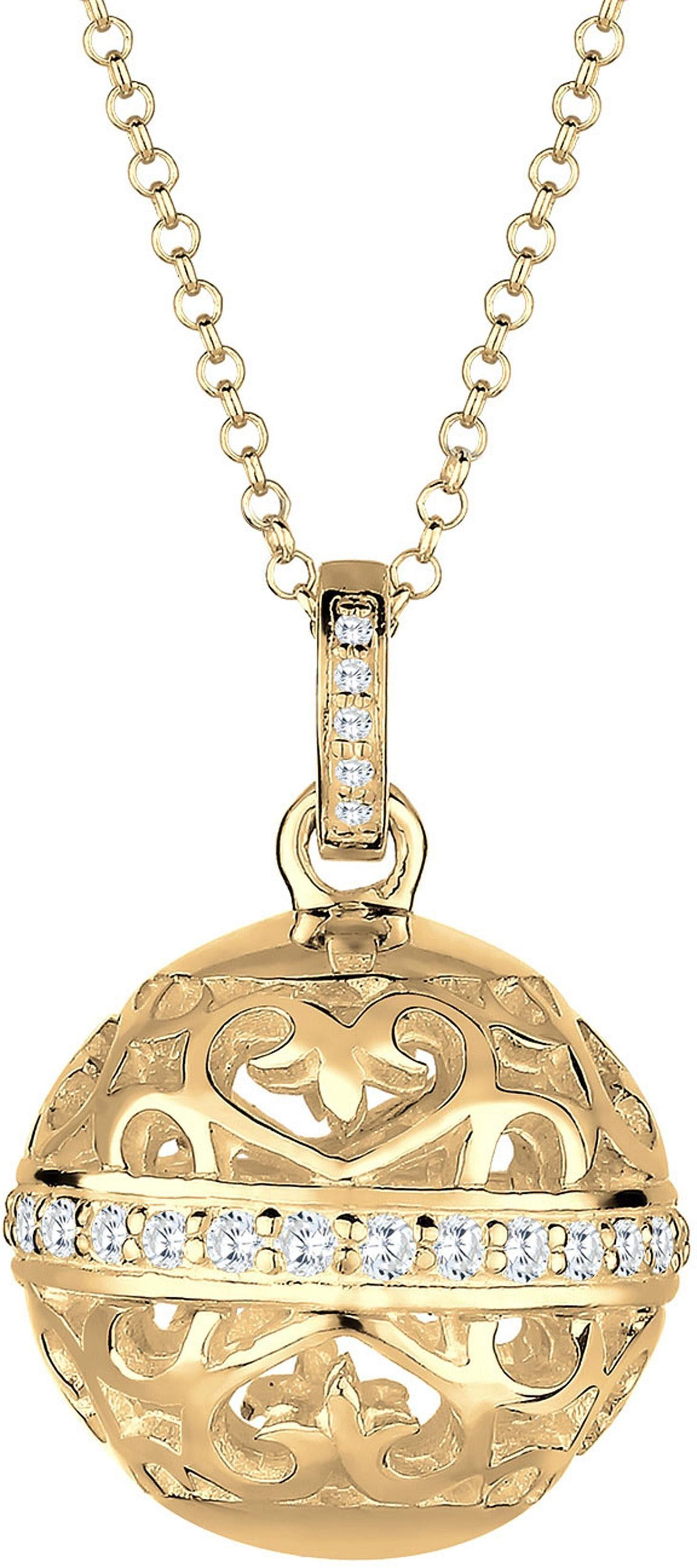 Elli Premium Kette mit Anhänger »Ornament, Elli PREMIUM, 0103581715« mit Zirkonia