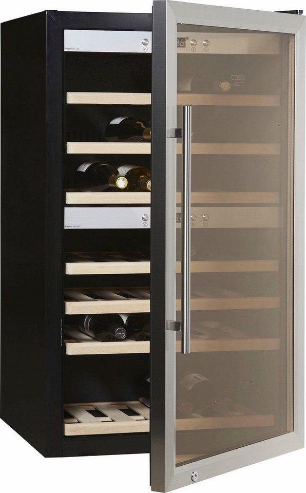 CASO Design Weinkühlschrank »WineComfort 66«, Höhe 102 cm, für 66 ...