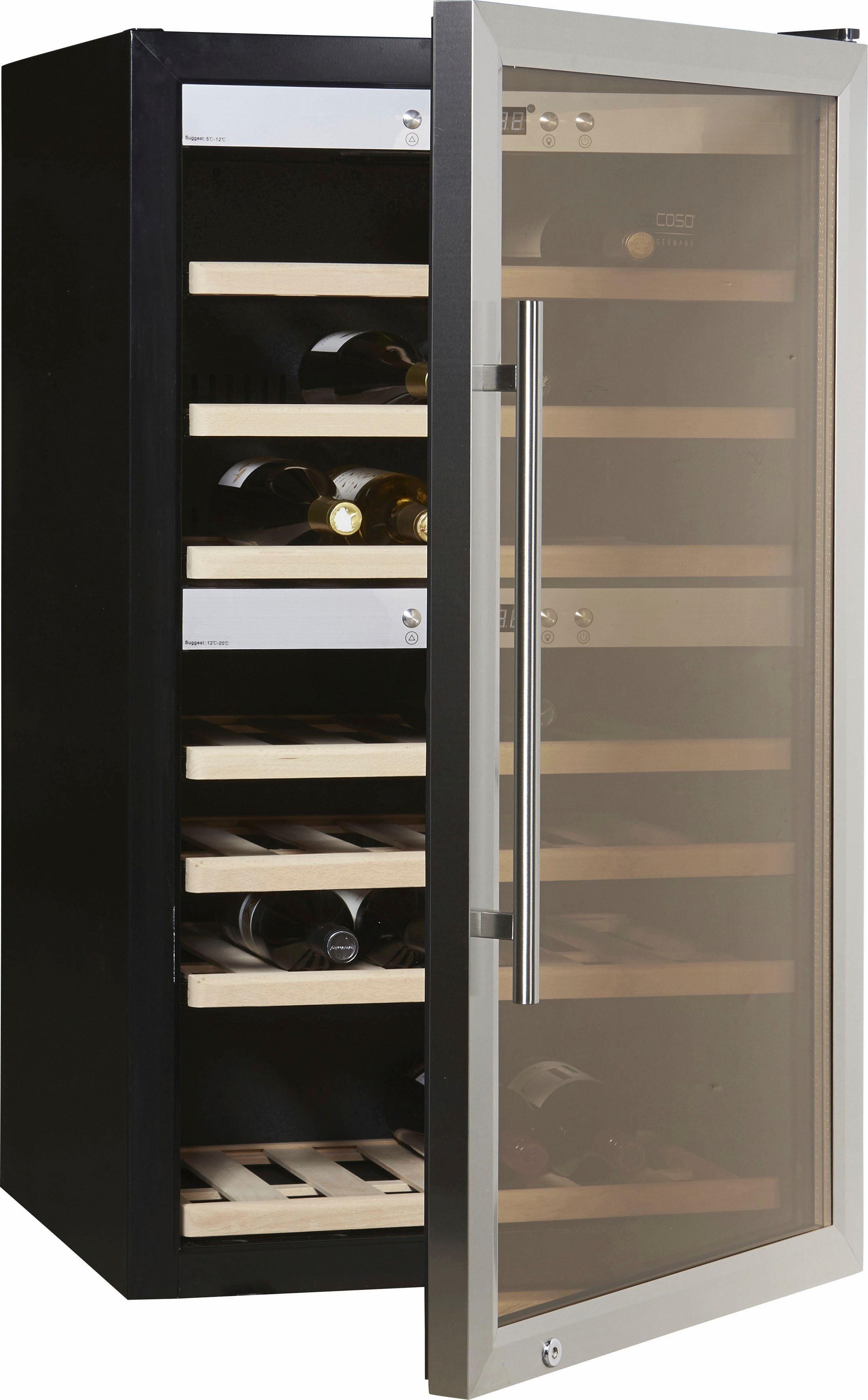 CASO Design Weinkühlschrank »WineMaster 66«, Höhe 102 cm, für 66 Bordeauxflaschen á 0,75l