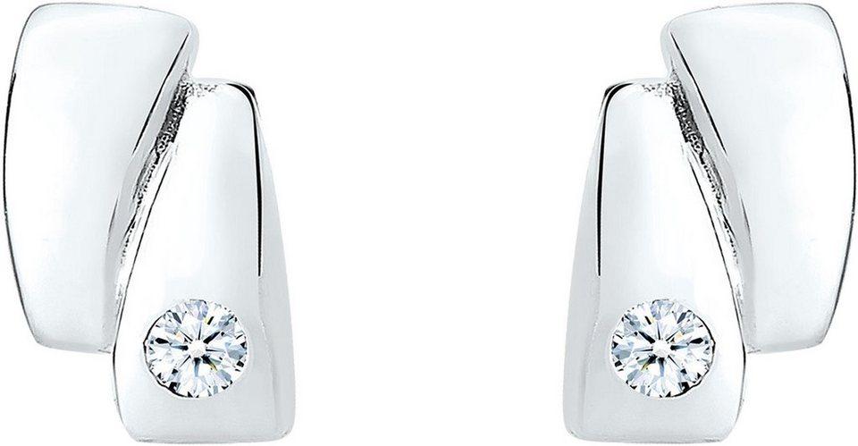 Diamore Paar Ohrstecker »DIAMORE, 0309562613« mit Brillianten in Silber 925-silberfarben