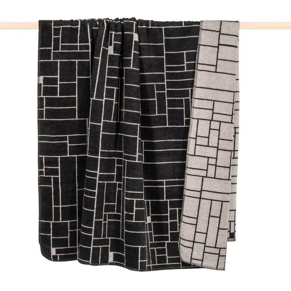 Wohndecke, pad, »Manhattan«, mit grafischem Muster in schwarz