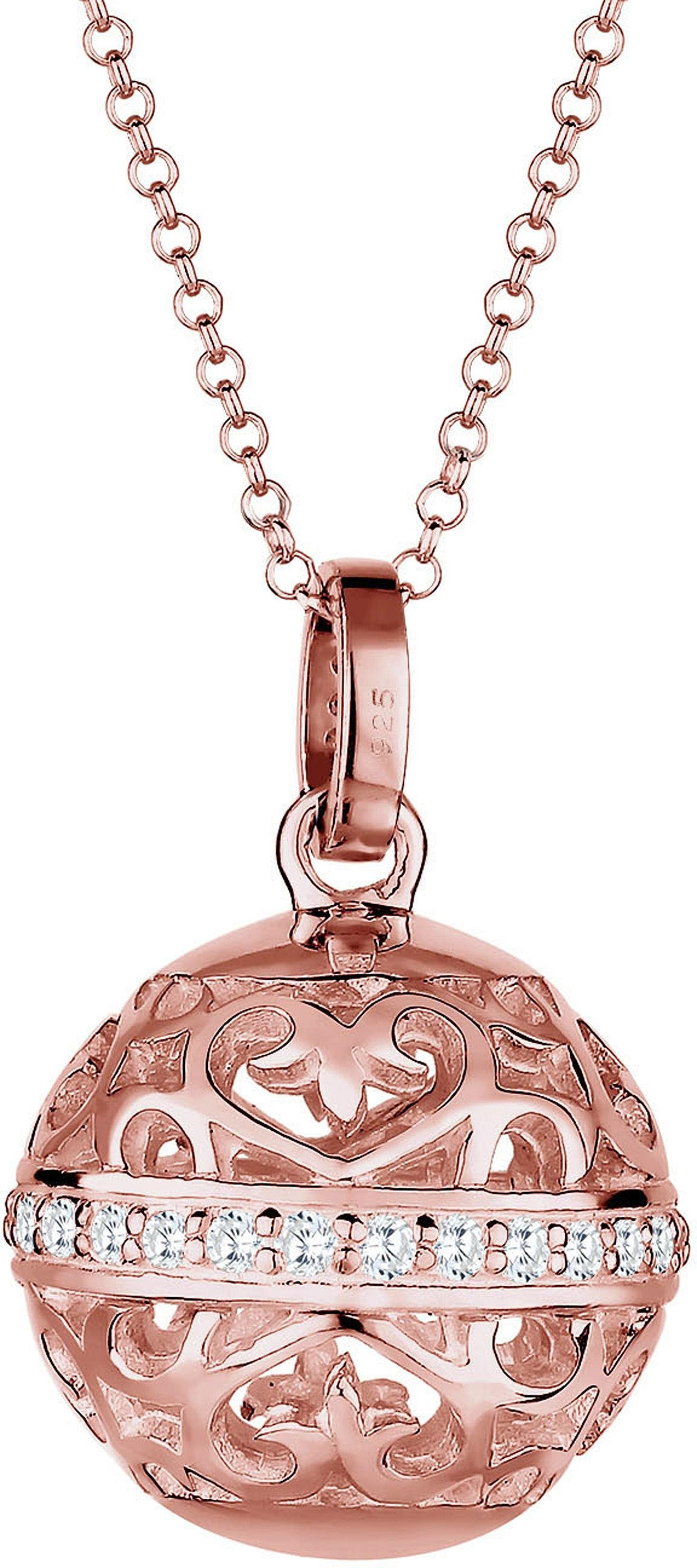 Elli Premium Kette mit Anhänger »Ornament, Elli PREMIUM, 0103711715« mit Zirkonia