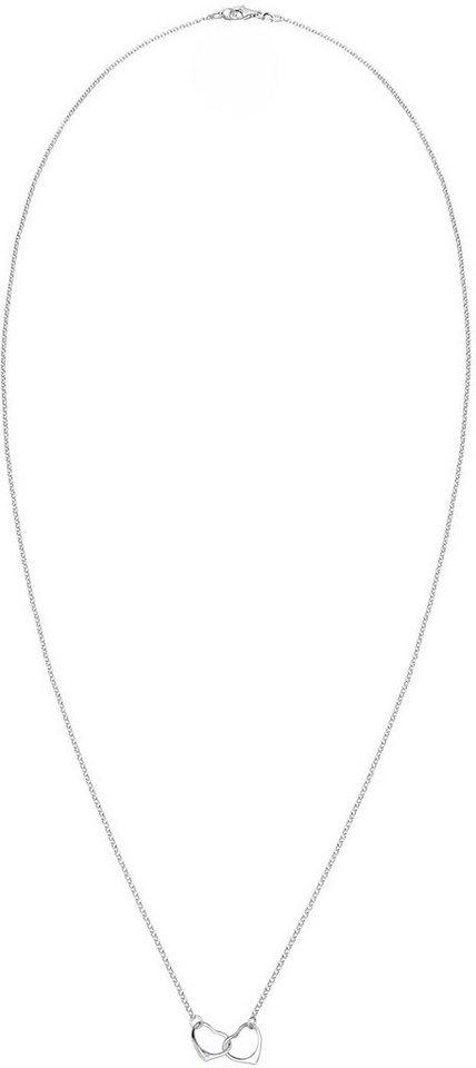 Diamore Kette mit Anhänger »Herz, DIAMORE, 0108332115« Mit Brillianten in Silber 925-silberfarben