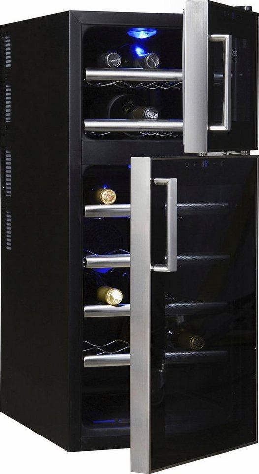CASO Design Weinkühlschrank »WineDuett Touch 21«, Höhe 80,5 cm, für ...