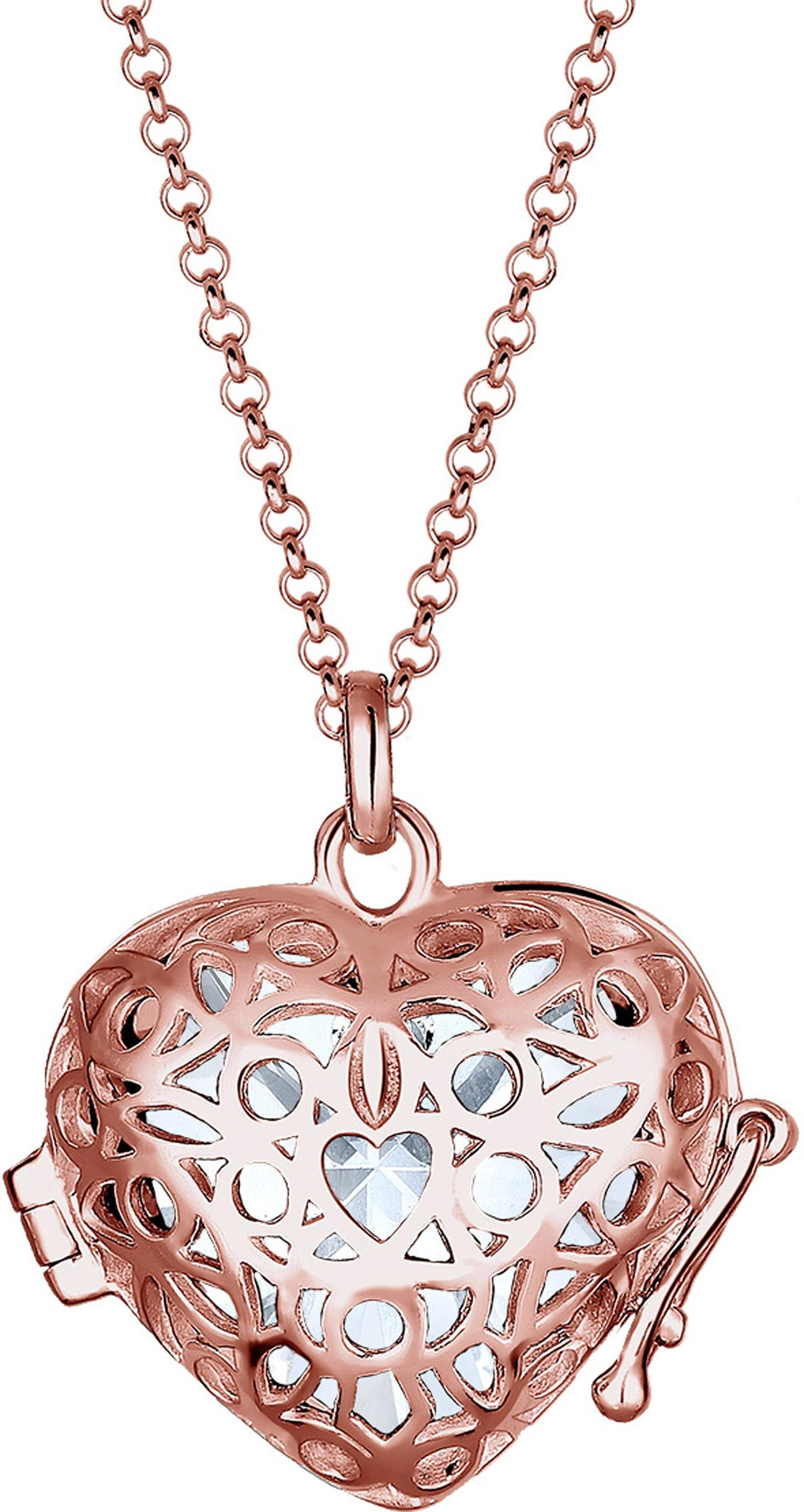 Elli Kette mit Anhänger »Herz, Elli, 0103891816« mit Swarovski® Kristall
