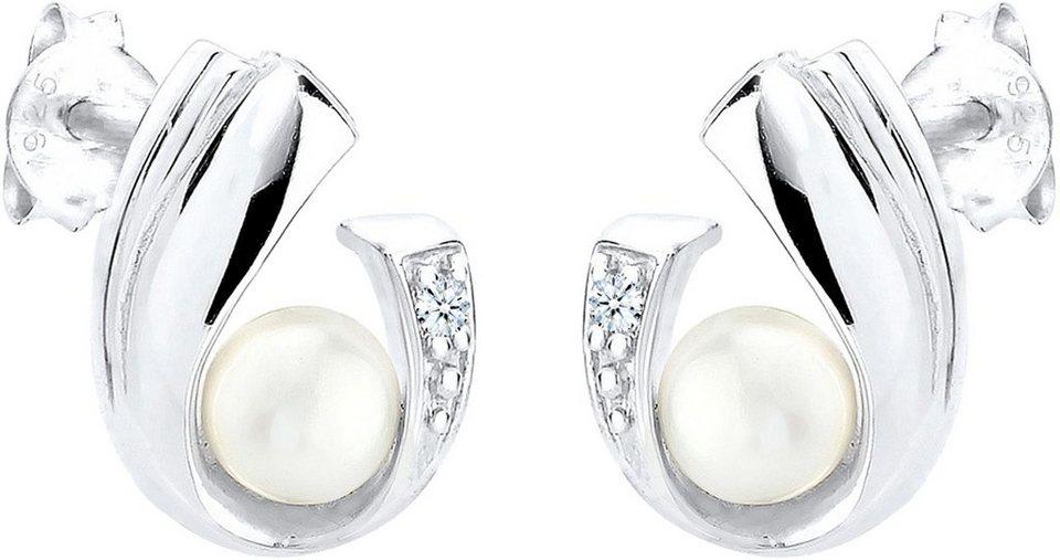 Diamore Paar Ohrstecker »DIAMORE, 0309341713« mit Brillianten in Silber 925-silberfarben