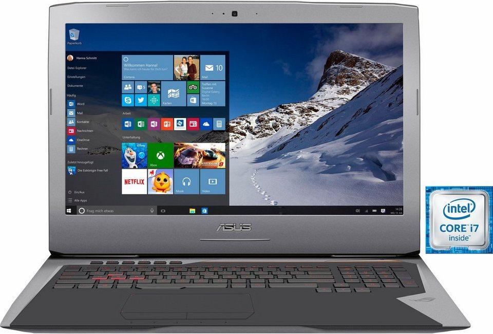 Asus G752VS-BA182T Notebook, Intel® Core™ i7, 43,9 cm (17,3 Zoll), 32768 MB DDR4-RAM in grau
