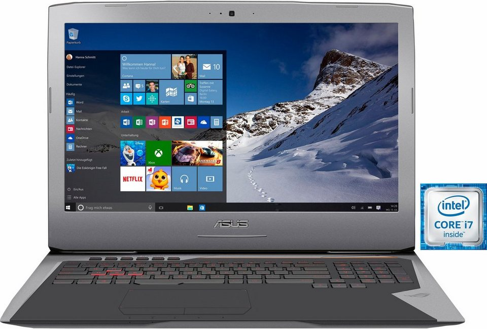 Asus G752VS-BA184T Notebook, Intel® Core™ i7, 43,9 cm (17,3 Zoll), 16384 MB DDR4-RAM in grau