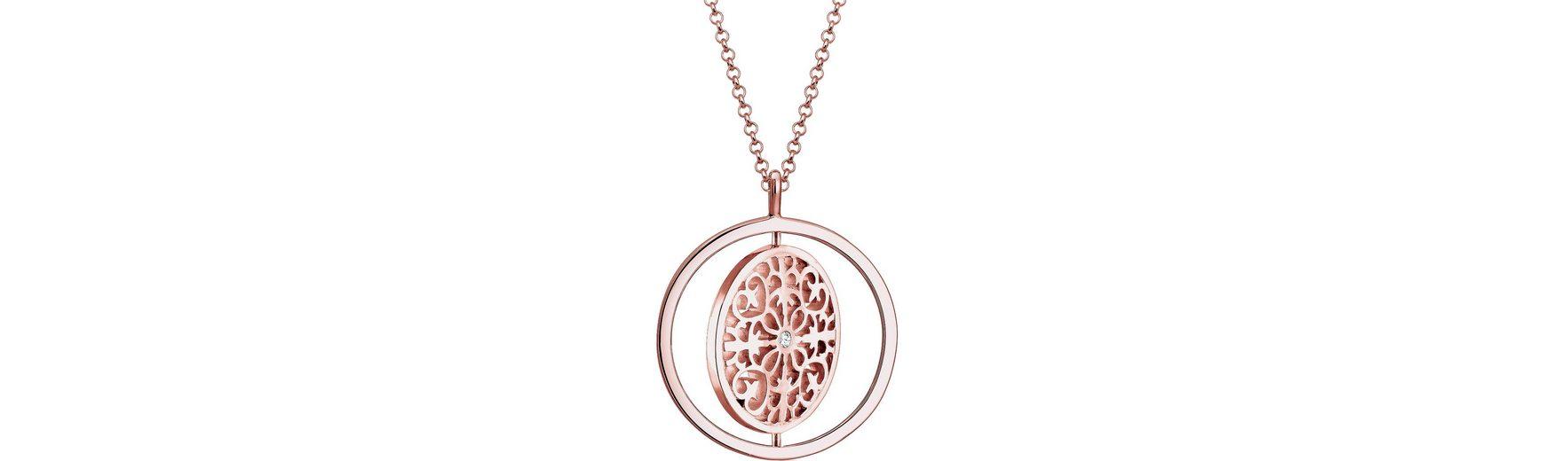 Elli Premium Kette mit Anhänger »Ornament, Elli PREMIUM, 0103141816« mit Swarovski® Kristall