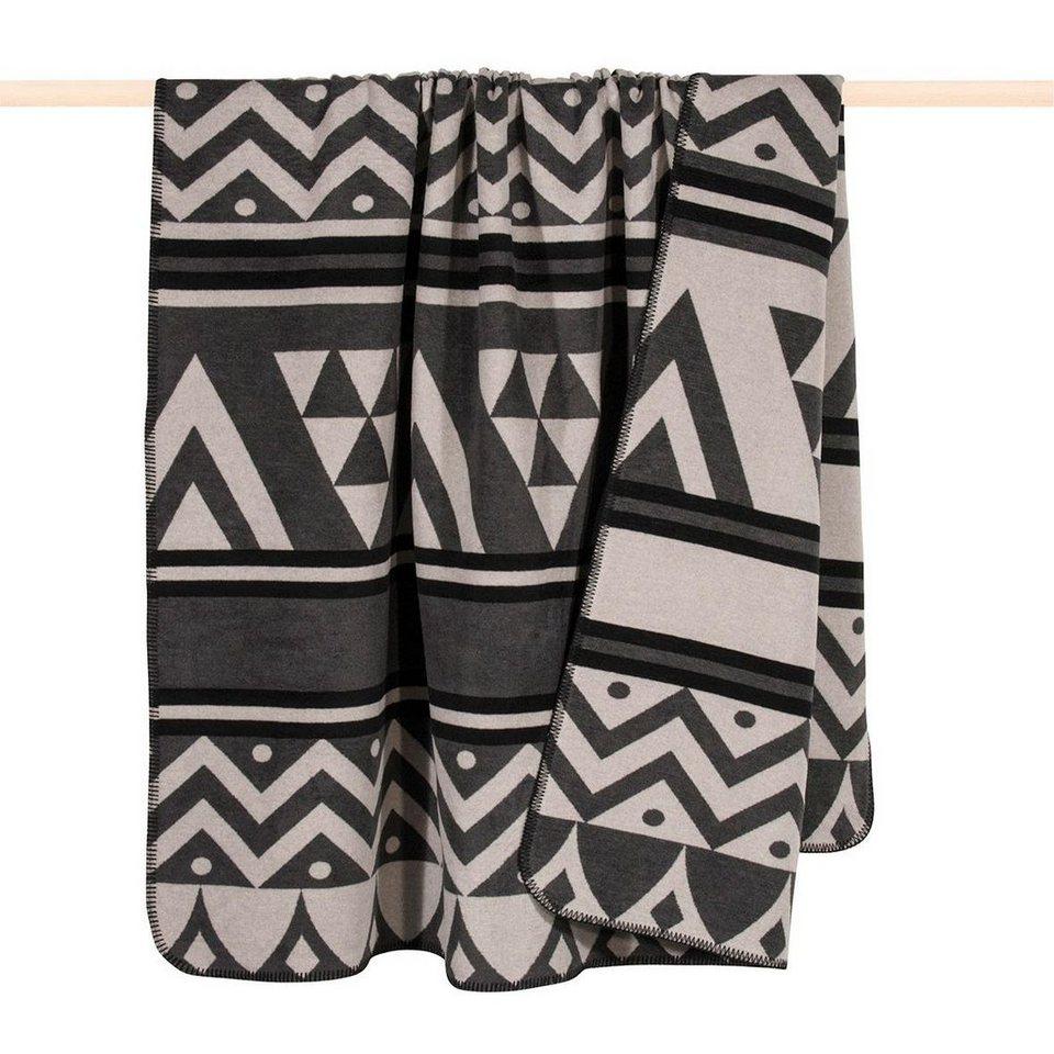 Wohndecke, pad, »Cape«, im modernen Muster-Design in schwarz