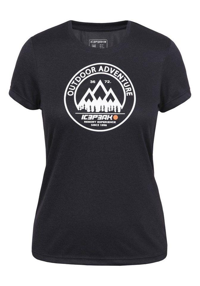 Icepeak T-Shirt »LISA« in dunkel blau