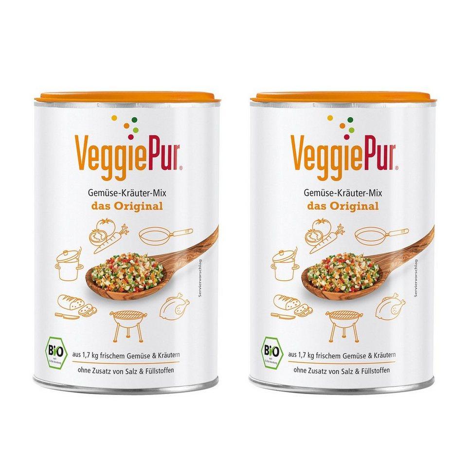 VeggiePur Bio Gemüse-Kräuter-Mix Original 2er-Set je Dose 130 g