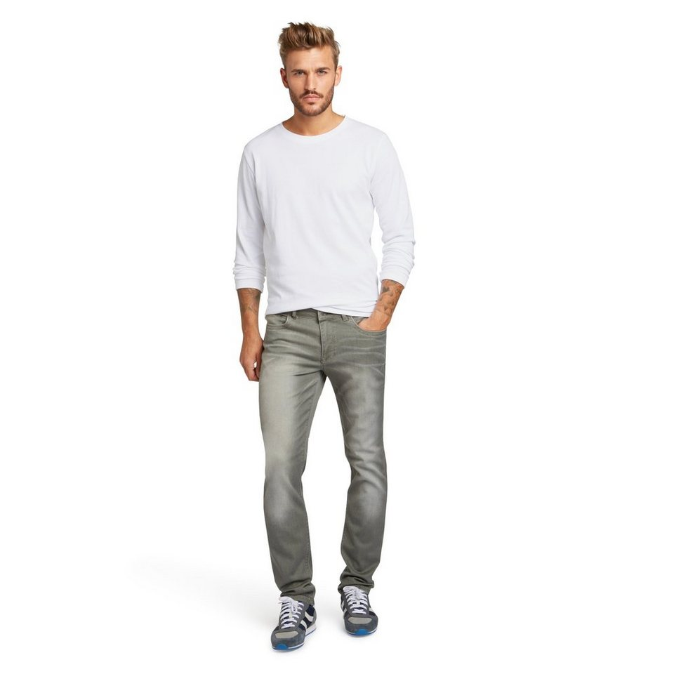 H.I.S Jeans »Cliff« in light washed moss