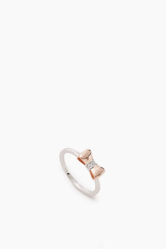 esprit sterling silber ring mit vergoldeter schleife. Black Bedroom Furniture Sets. Home Design Ideas