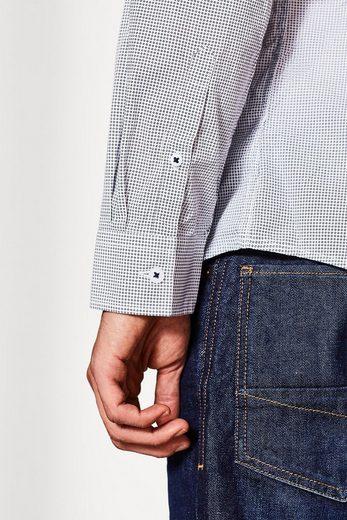 ESPRIT Print-Hemd aus reiner Baumwolle