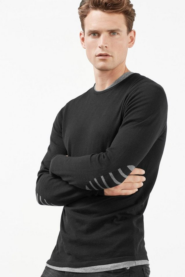 ESPRIT COLLECTION Basic Pulli, 100% australische Baumwolle in BLACK